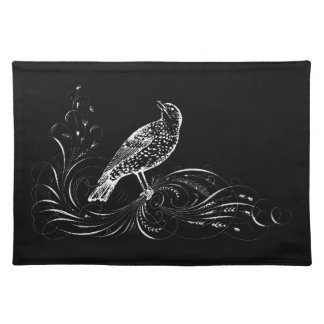 Bird on a Scroll Cloth Placemat