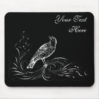 Bird on a Scroll Mouse Pad