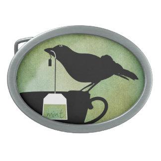 Bird on a Teacup Belt Buckle
