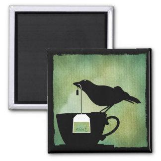 Bird on a Teacup Magnet