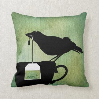 Bird on a Teacup Pillow