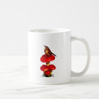Bird On A Toadstool: Original Pastel Art Coffee Mug