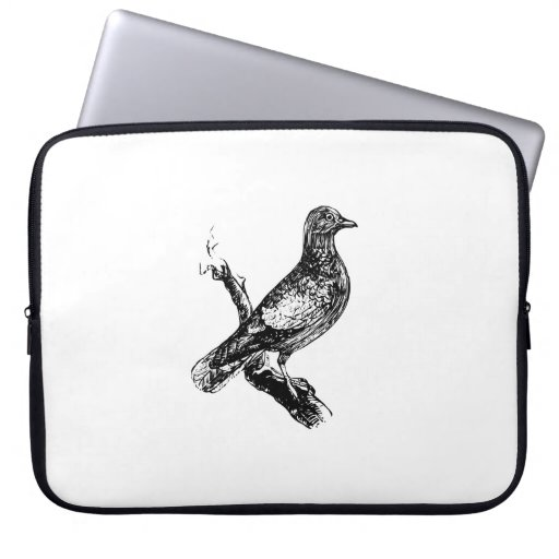 Bird on a Tree Branch Computer Sleeves