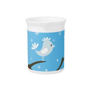Bird on a tree drink pitcher