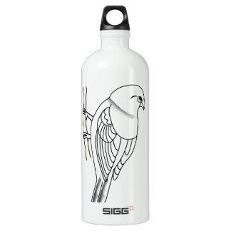 bird on a twig water bottle