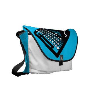Bird on a Typewriter Bag (blue background)