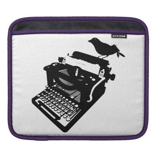 Bird on a Typewriter iPad Sleeve