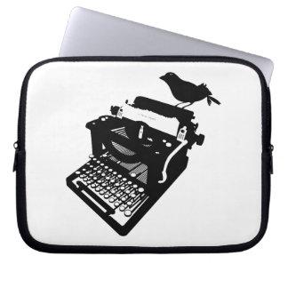 Bird on a Typewriter Laptop Case Laptop Computer Sleeve