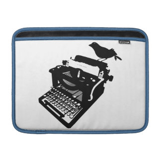 Bird on a Typewriter Macbook Sleeve
