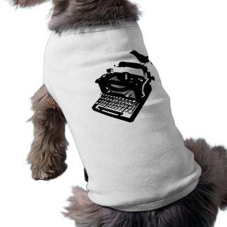 Bird on a Typewriter Pet Clothing