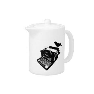 Bird on a Typewriter Teapot