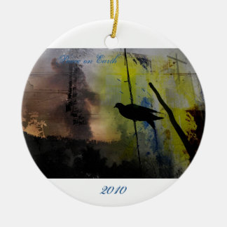 bird on a wire, 2010, Peace on Earth Ceramic Ornament