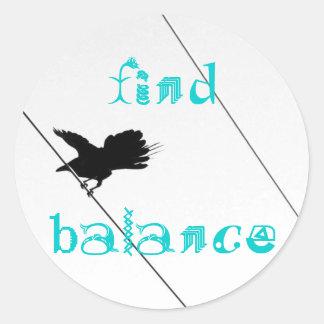 Bird on a Wire :: Find Balance :: Take Flight Classic Round Sticker