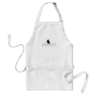Bird on a wire Tee Adult Apron