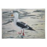 Bird on beach placemat