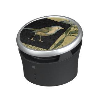Bird on Black and Vintage Background Speaker