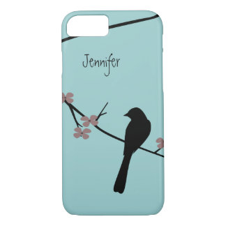 Bird on Blossom Branch Personalized iPhone 7 Case