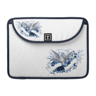 Bird on Bouquet (Blue) MacBook Pro Sleeve