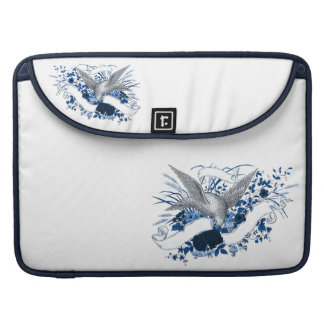 Bird on Bouquet (Blue) Sleeve For MacBook Pro