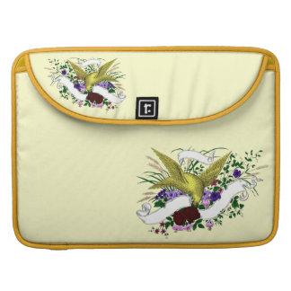 Bird on Bouquet (Full Colour) MacBook Pro Sleeve