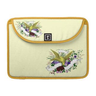 Bird on Bouquet (Full Colour) Sleeve For MacBooks