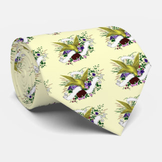 Bird on Bouquet (Full Colour) Tie