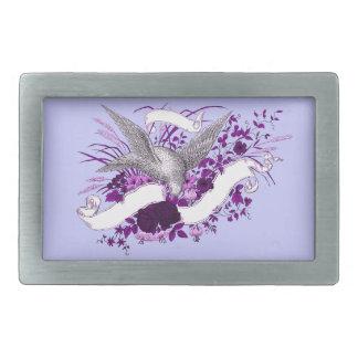 Bird on Bouquet (Purple) Belt Buckle