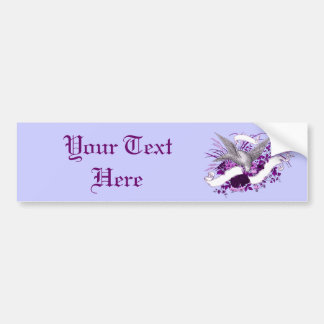 Bird on Bouquet (Purple) Bumper Sticker