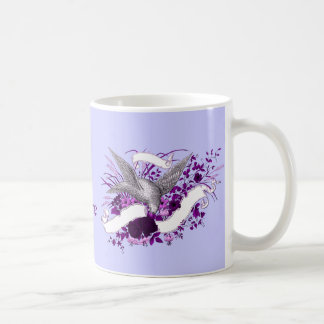 Bird on Bouquet (Purple) Coffee Mug