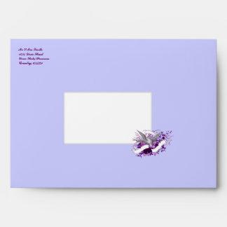 Bird on Bouquet (Purple) Envelope