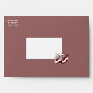 Bird on Bouquet (Red) Envelope