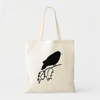 Bird On Branch Silhouette Bags