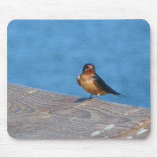 Bird on dock mouse pad