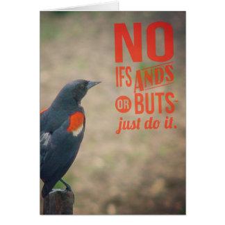 Bird on Fencepost Encouragement Greeting Card