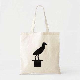 Bird On Ledge Silhouette Bags