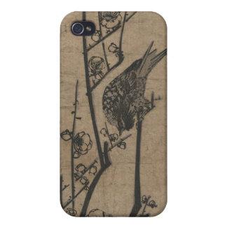 Bird on Plum Branch iPhone 4 Cases