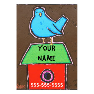 BIRD ON ROOF  business cards