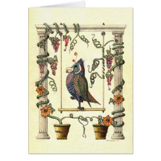 Bird on Swing Greeting Cards