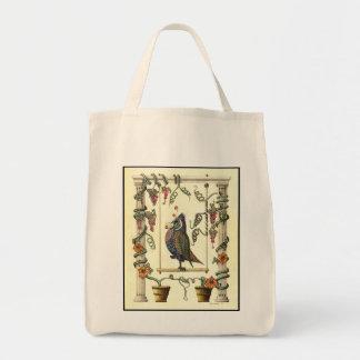 Bird on Swing - Organic Tote Bag