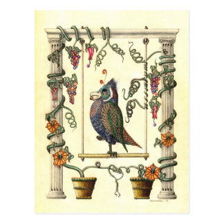 Bird on Swing Postcard