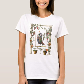 Bird on Swing - Womens Fitted Baby Doll Shirt