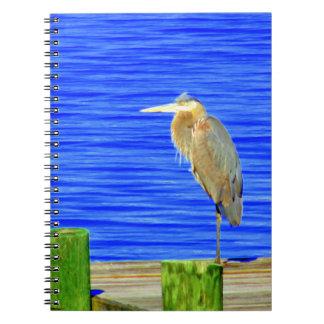 Bird on the Dock photo notebook