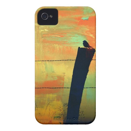 Bird on the fence post iPhone 4 cover