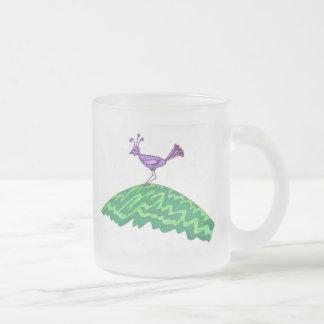 Bird on the Hill Frosted Glass Coffee Mug