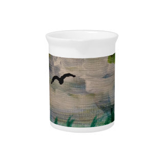 Bird on the Meadow Beverage Pitcher
