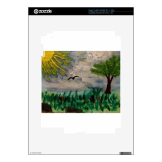Bird on the Meadow Decal For iPad 2