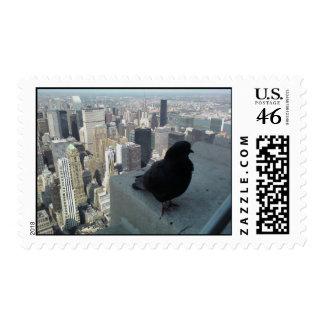 Bird Over New York City Stamp