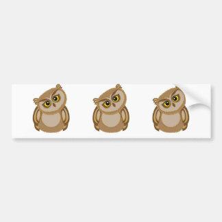 bird owl 2 bumper sticker