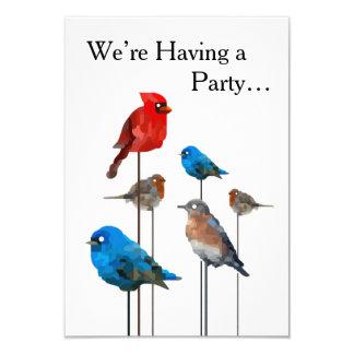 """Bird Party"" Painting Invitations"