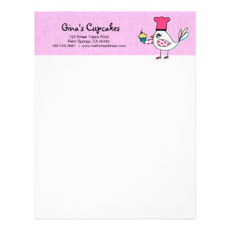 Bird Pastry Chef Letterhead
